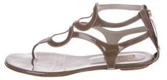 Valentino Patent Cutout Sandals