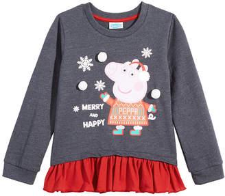 Peppa Pig Little Girls Contrast Hem Top