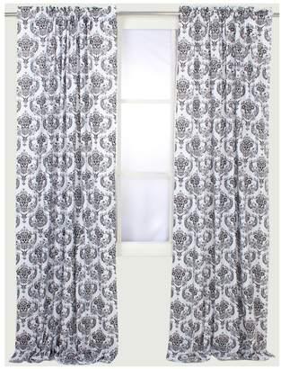 Bacati Classic Damask White/Black Curtain Panel