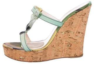 Emilio Pucci Wedge Slide Sandals