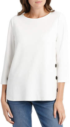 Button Side 3/4 Sleeve Tunic