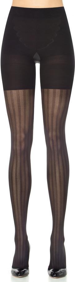 Spanx Patterned Tights Three-Stripe Mesh