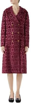 Gucci GG Velvet Martingale Coat