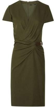 Gucci Wrap-effect Buckled Wool-felt Dress