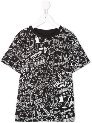 Stella McCartney doodle print T-shirt