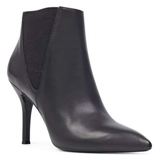 Nine West Front Leather Pointed Toe Bootie