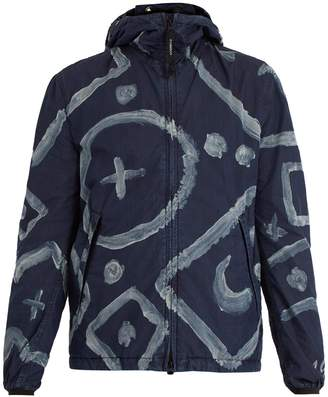 C.P. Company Goggle graphic-print cotton-blend jacket