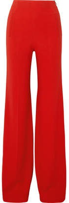 Roland Mouret Axon Stretch-crepe Wide-leg Pants - Red
