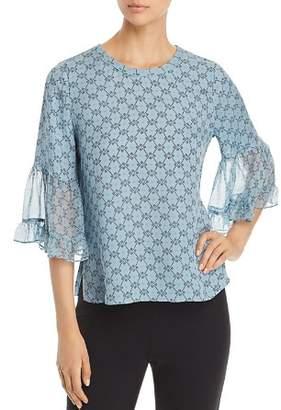 Kobi Halperin Nea Bell Sleeve Silk Blouse