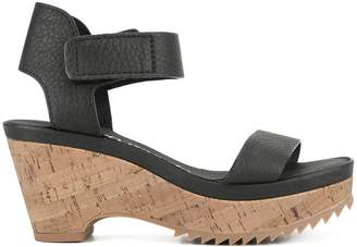 aeaa8bd59d5 Pedro Garcia Black Platform Wedge Women s Sandals - ShopStyle