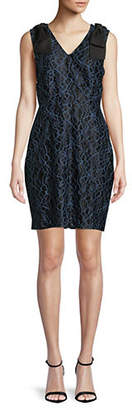 Isaac Mizrahi IMNYC Two Tone Lace Bow Sheath Dress