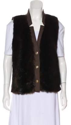 Ellen Tracy Faux Fur Vest
