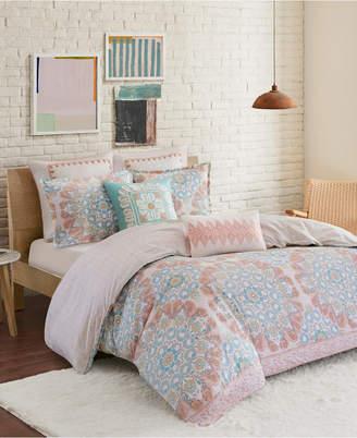 Echo Simona Full/Queen 3 Piece Reversible Cotton Duvet Cover Set Bedding