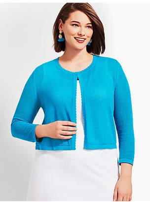 Talbots Plus Size Exclusive Open-Stitch Dress Shrug