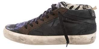 Golden Goose Mid/Star Leather Sneakers