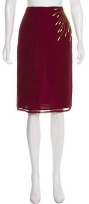 Matthew Williamson Silk Chiffon Knee-Length Skirt