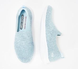 Skechers Ultra Flex Flat Knit Slip-On Shoes - Harmonious