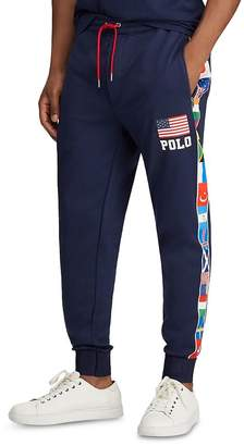 Polo Ralph Lauren Flag-Striped Fleece Track Pants