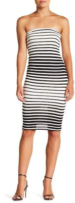 Velvet Torch Striped Tube Dress