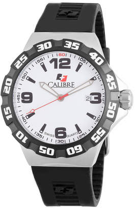 Lancer Calibre 44mm Men's Watch w/ Rubber Strap, White