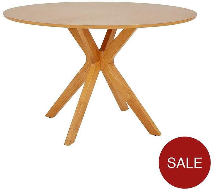 Starburst 119 Cm Oak Veneer Circular Dining Table