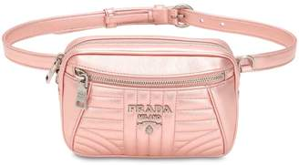 Prada Quilted Metallic Leather Belt Pack