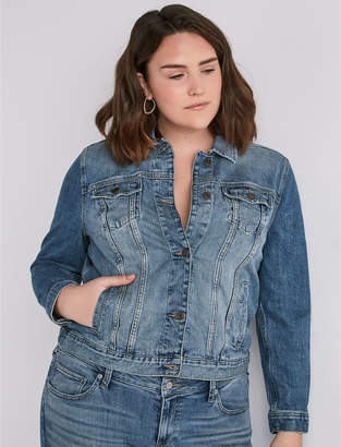 Lucky Brand PLUS SIZE CLASSIC DENIM JACKET IN VERVE