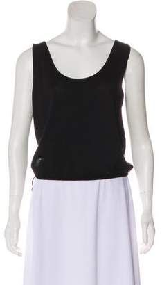 Hussein Chalayan Scoop Neck Knit Top