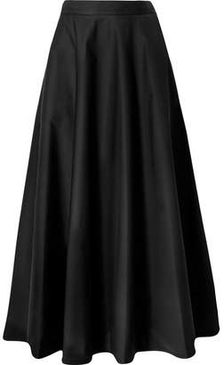 Bottega Veneta Cotton-blend Poplin Midi Skirt - Black