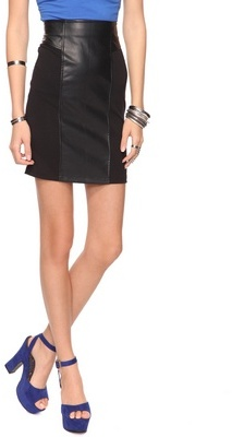 Forever 21 Ponte & Faux Leather Pencil Skirt
