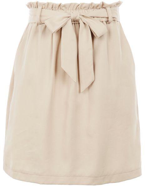 TopshopTopshop Paper bag tie mini skirt