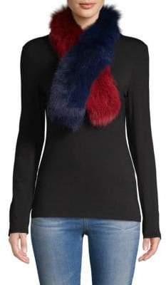 La Fiorentina Two-Tone Dyed Fox Fur Scarf