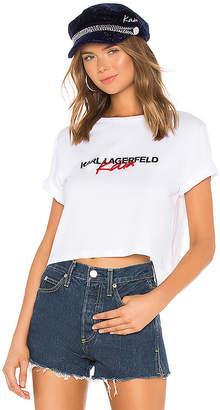 Karl Lagerfeld X KAIA Cropped Tee