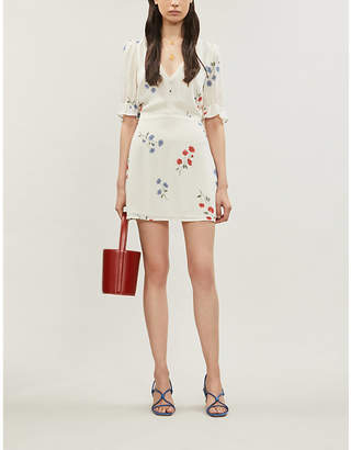 Reformation Brielle floral-print crepe mini dress
