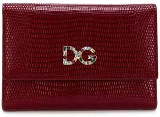 Dolce & Gabbana crystal logo wallet