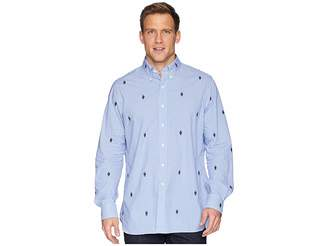 Polo Ralph Lauren Embroidered Bear Gingham Poplin Sport Shirt