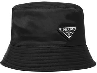 Prada Appliquéd Shell Bucket Hat - Black