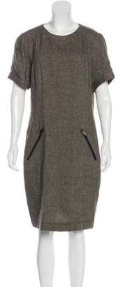 Burberry Tweed Midi Dress