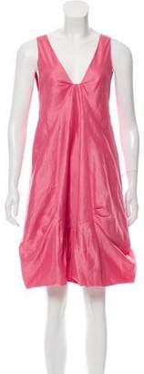Donna Karan Knee-Length Paneled Dress