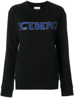 Iceberg studded logo sweatshirt