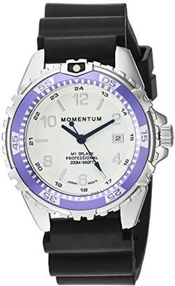 Momentum Women's Quartz Watch | M1 Splash by Momentum| Stainless Steel Watches for Women | Dive Watch with Japanese Movement & Analog Display | Water Resistant ladies watch with Date –Lume/Purple Rubber