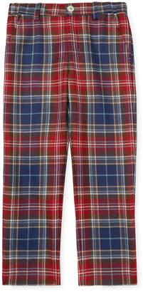 Oscar de la Renta Plaid Wool Classic Slim Pant