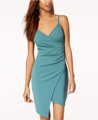 Almost Famous Juniors' Sleeveless Faux-Wrap Dress