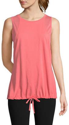 ST. JOHN'S BAY SJB ACTIVE Active Sleeveless Round Neck T-Shirt-Womens