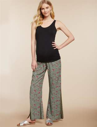 Jessica Simpson Motherhood Maternity Under Belly Challis Flare Leg Maternity Pants