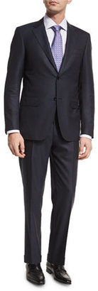 Canali Textured Solid Wool Two-Piece Suit, Black $1,895 thestylecure.com