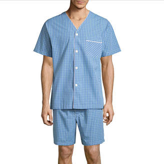 STAFFORD Stafford V-Neck Short Sleeve/ Short Leg Pajama Set - Men's