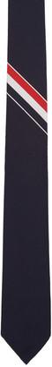 Thom Browne Navy Classic Stripe Tie $215 thestylecure.com