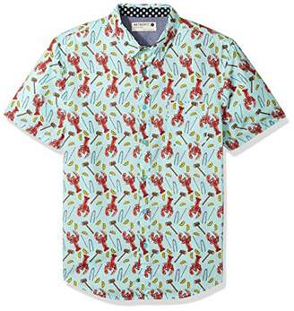 Retrofit Sportswear Men's Button Down Party Print Shirt