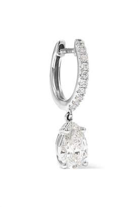 Anita Ko Huggies 18-karat White Gold Diamond Earrings - one size